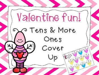 Kindergarten Tens & More Ones Valentine Cover Up