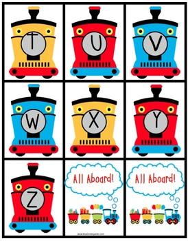 Kindergarten Train Theme Math and Literacy Activities