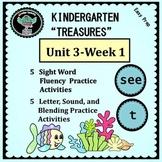 """Kindergarten """"Treasures""""   Unit 3 Week 1  Sight Word see"""