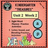 Kindergarten Treasures   Unit 2  Week 2   Sight Word a