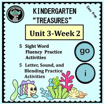 """Kindergarten """"Treasures""""  Unit 3 Week 2   Sight Word go"""
