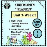 Kindergarten Treasures   Unit 3 Week 3   Sight Words see