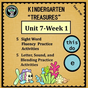 Kindergarten Treasures  Unit 7 Week 1  Sight Words this  d