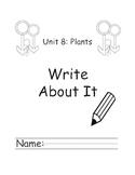 Kindergarten Treasures Unit 8 Write About it Journals