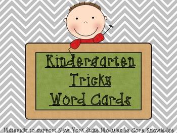 Kindergarten Tricky Word Cards
