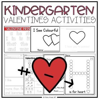 {FREEBIE} Kindergarten Valentine's Day Activities
