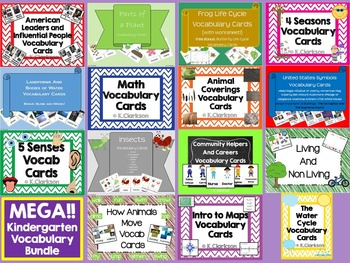 Mrs. Clarkson's-Vocabulary Cards {MEGA BUNDLE}