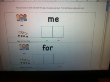 Kindergarten Vol 3 High Frequency Word and Letter Activite