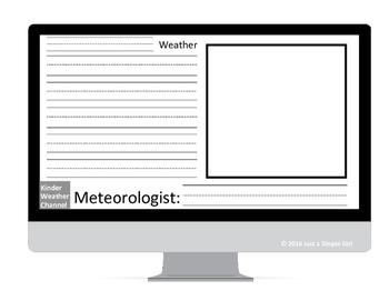 Kindergarten Weather Forecast Writing