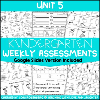 Weekly Assessments Unit 5 {Compatible With Kindergarten Journeys}