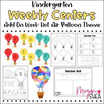 Kindergarten Weekly Centers Add On Week Hot Air Balloon Theme