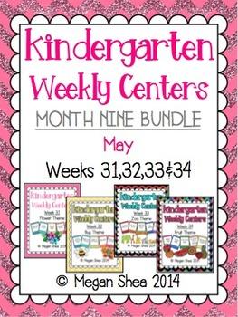 Kindergarten Weekly Centers Month Nine BUNDLE May