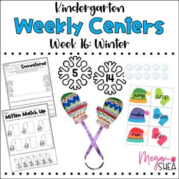 Kindergarten Weekly Centers Week 16 Winter Theme