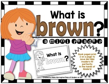 Kindergarten {What is Brown?} Early Emergent Reader for Re