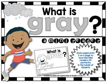 Kindergarten {What is Gray?} Early Emergent Reader for Rea