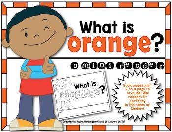 Kindergarten {What is Orange?} Early Emergent Reader for R
