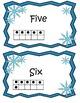 Kindergarten Winter ELA Literacy and Math Centers includin