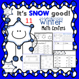 Kindergarten Winter Math Centers (Common Core Aligned)