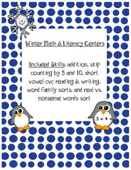 Kindergarten Winter Math & Literacy Skills