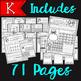 Kindergarten Winter Printables Math BUNDLE {Numbers and Mo