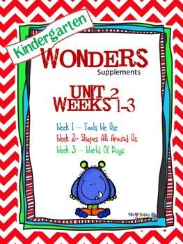 Kindergarten Wonders Reading Supplement ~ Unit 2 Bundle