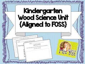 Kindergarten Wood Science Unit Bundle!  7 pages of printab
