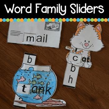 Kindergarten Word Family SLIDERS