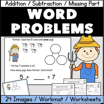 Kindergarten Word Problems: Addition, Subtraction, Missing