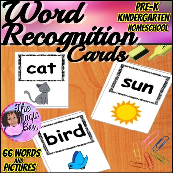 Kindergarten Word Recognition Cards