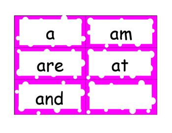 Kindergarten Word Wall Cards