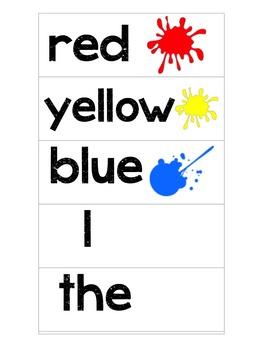 Kindergarten Word Wall (Visual Cards)