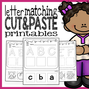 Emergent Readers Word Work - Letter Matching Printables