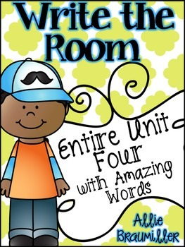 Kindergarten Write the Room: Amazing Words Entire Unit Fou