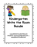 Kindergarten Write the Room Bundle {Literacy Activity}