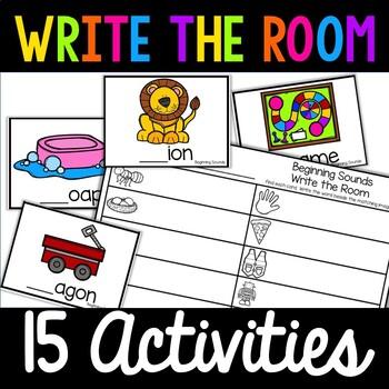 Kindergarten Write the Room Pack! 10 Activities! Literacy