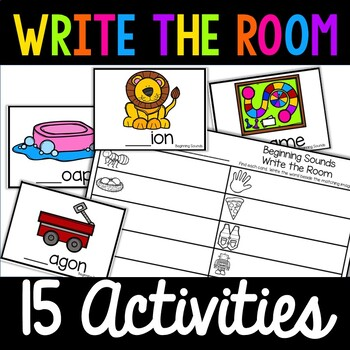Kindergarten Write the Room Pack! 10 Activities! Literacy