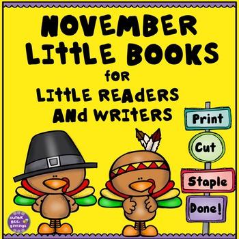 Kindergarten Writing Center - November Books for Little Re