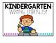 Kindergarten Writing Checklist
