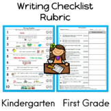 Kindergarten Writing Checklist and Rubric