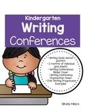 Kindergarten Writing Conferences Pack