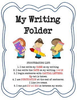 Student Writing Folder Kit: Contents to Help Students Succ