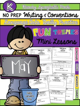 Kindergarten Writing & Language Mini Lessons MAY