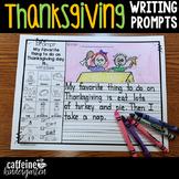Kindergarten Writing Prompts - Thanksgiving
