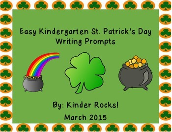 Writing Prompts for St. Patrick's Day-Kindergarten