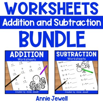 Addition and Subtraction Worksheets for Kindergarten and 1
