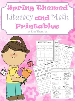 Spring Themed Literacy and Math Printables