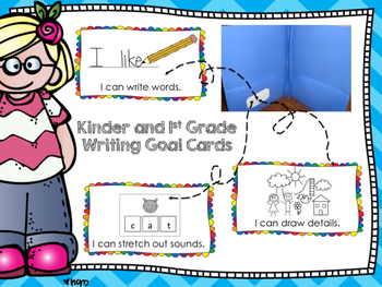 """Writing Workshop """"I can"""" Goal Cards for Kindergarten and 1"""