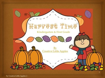Fall: {Harvest Time} Kinder and First grade Math and Liter