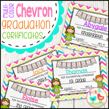 Kindergarten and Pre-K Graduation Certificates - Multi-Col