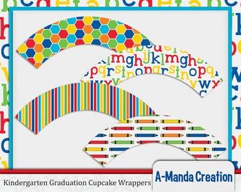 Kindergarten and Preschool Graduation Cupcake Wrappers
